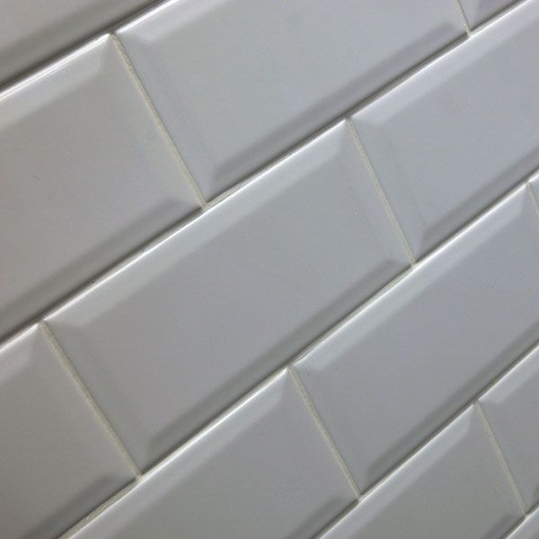 10x20cm Bevel Brick White Tile Blanco Biselado Brillo By Salcamar Vila Only 9 50 Ceramicplanet Bathroom Wall Tile Tile Bathroom White Tiles