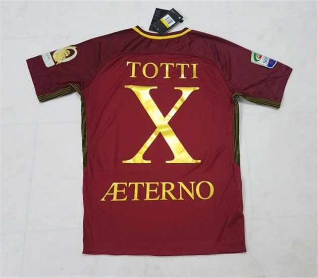 as roma totti x aeterno 2017 18 season home giallorossi all patches shirt e83b77d9c