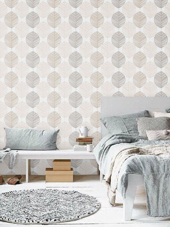 Self adhesive vinyl wallpaper Leaf wall pattern 062