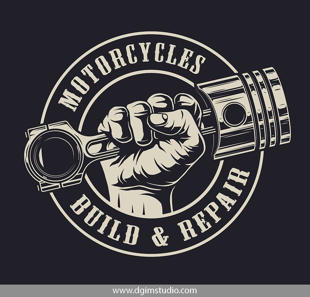 Motorcycle Bundle Automotive Logo Design Automotive Logo Mechanics Logo