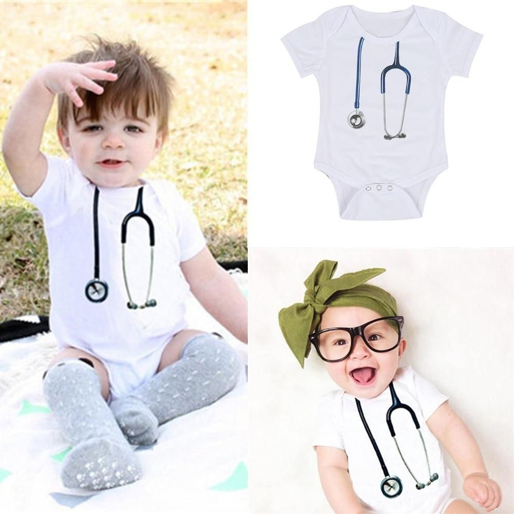 3828860a27a6d 2017 Handsome Baby Doctor Cute Stethoscope Gentlemen Clothes Romper ...