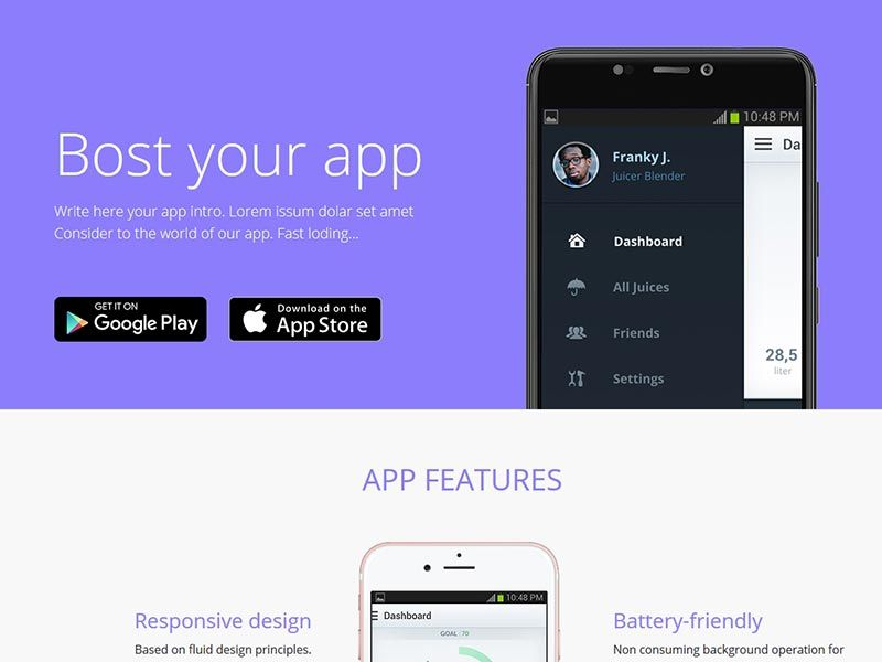 Best Mobile App Landing Page Template Skybootstrap Mobile App Landing Page Mobile App App