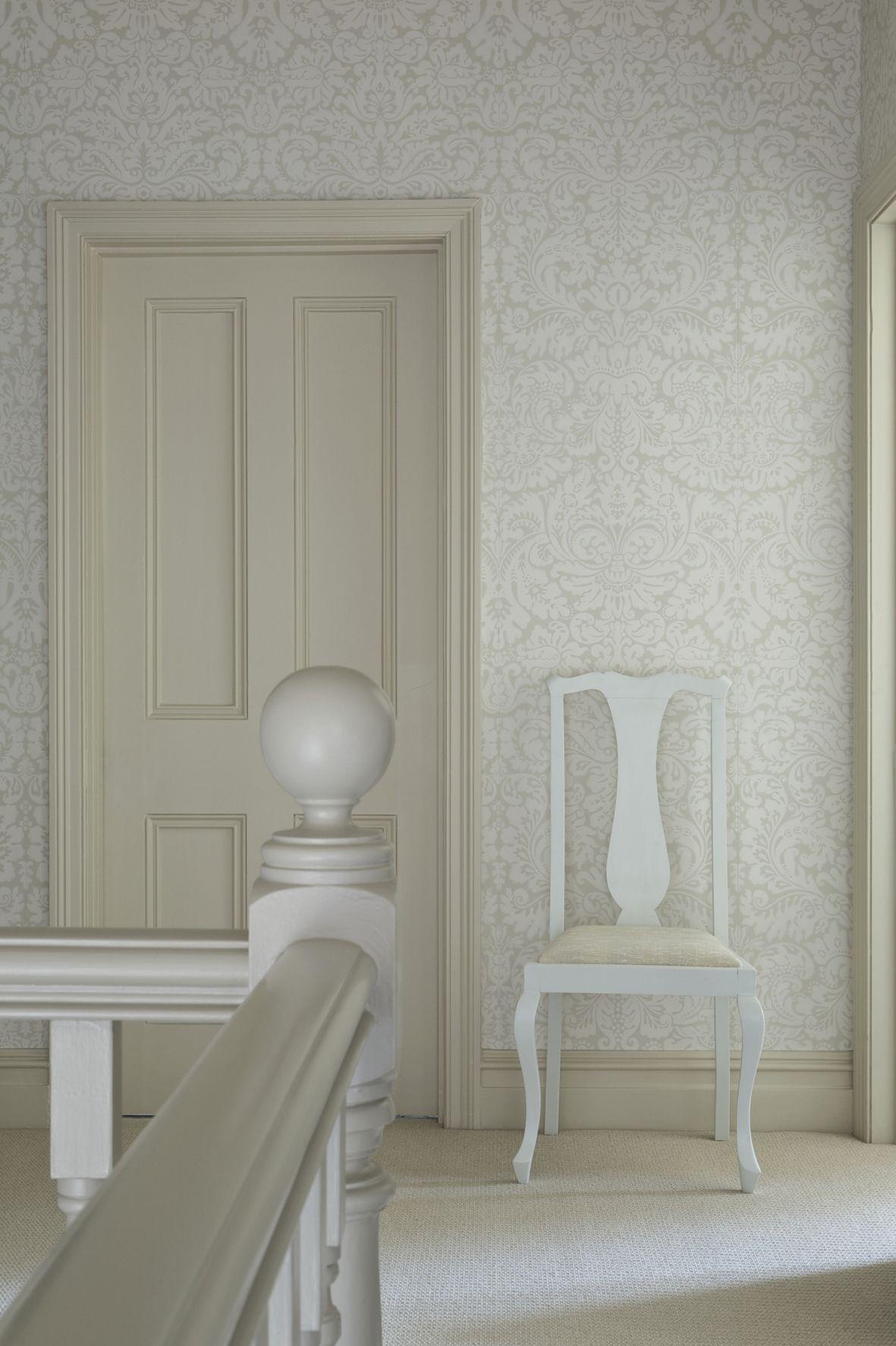 Best Elegant White Wallpaper By Farrow Loooooove This And 400 x 300