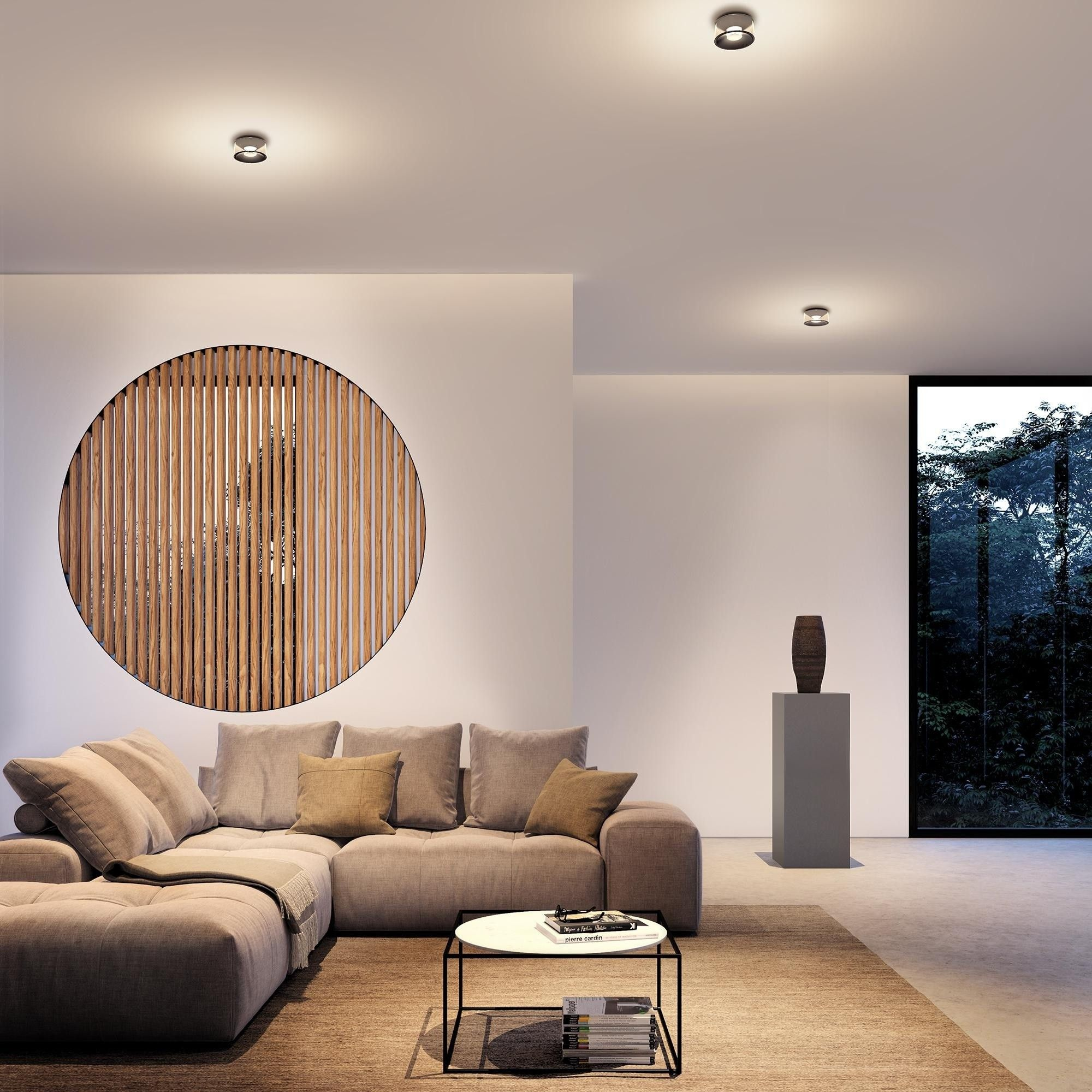 Deckenleuchte mit Direkt- und Indirektbeleuchtung  LED