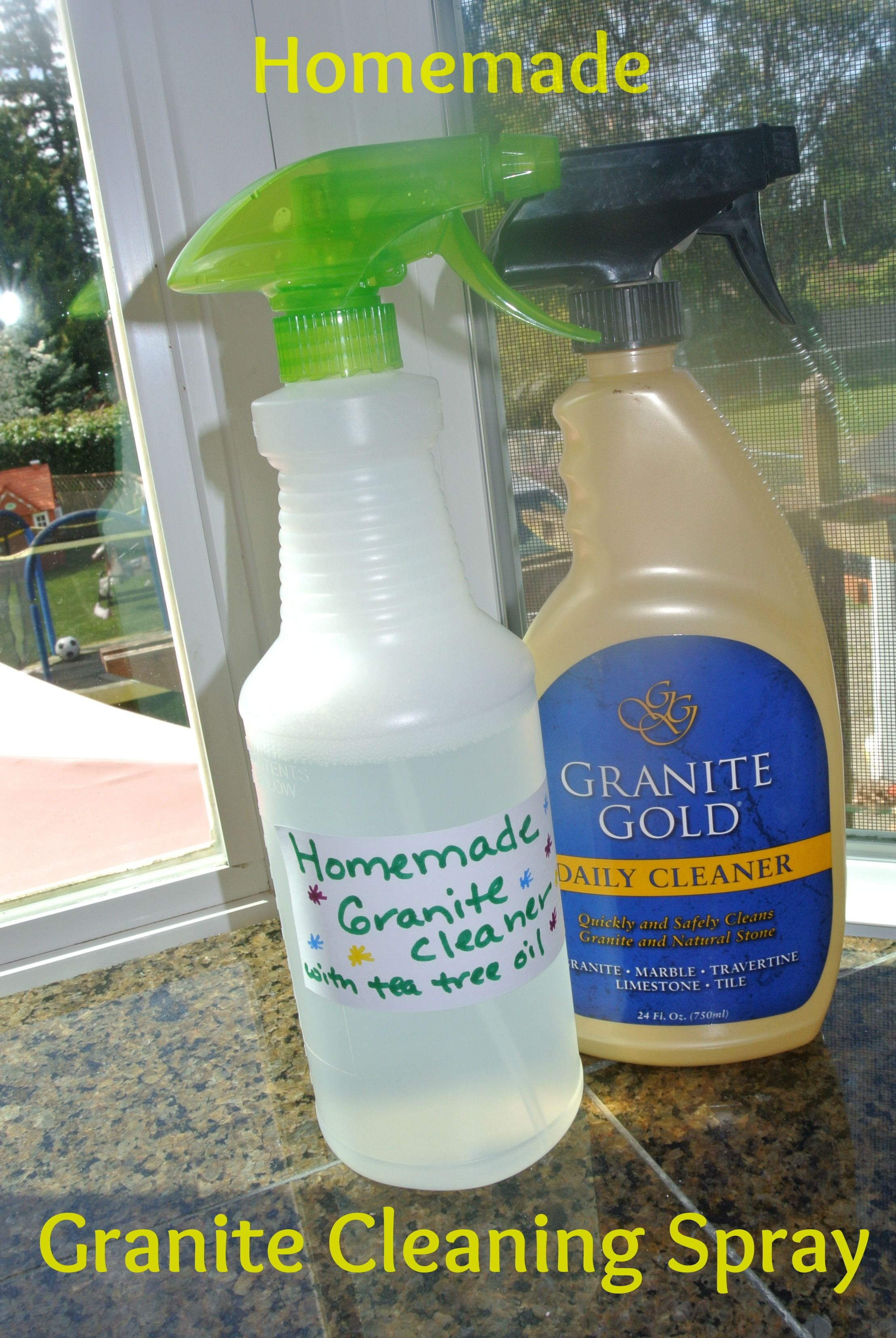 homemade granite cleaning spray - diy #granite #homemade #cleaning