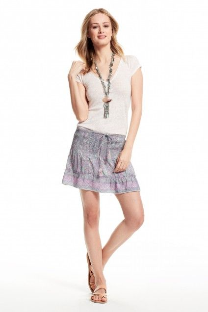 Enjoy an additional 60% off sale prices for our Summer Sale. Payson Printed Silk Mini Skirt.