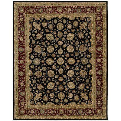 Nourison Wool Black Brown Area Rug Rug Size Rectangle 2 X 3