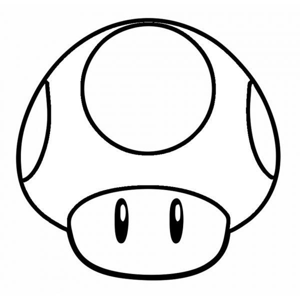 Disegno Di Funghetto Di Super Mario Bros Da Colorare Trunk Or