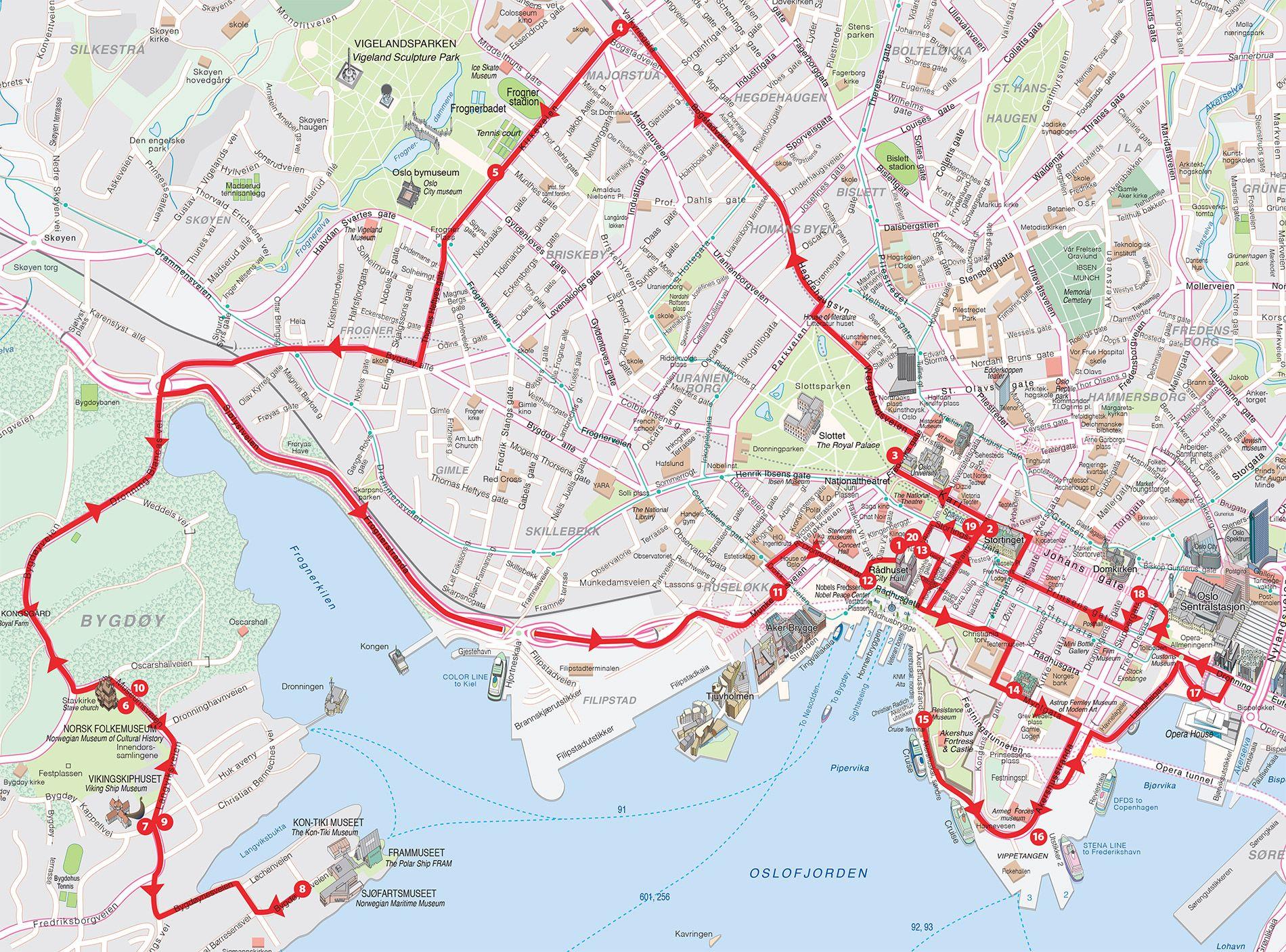 oslo kart Oslo Kart Kart over Oslo by | Kart | Pinterest | Oslo oslo kart