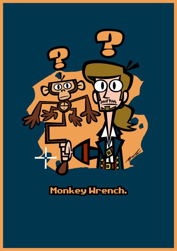 Bulldog Plumber Monkey Wrench Shield Cartoon Retro Illustration Cartoon Styles Monkey Wrench