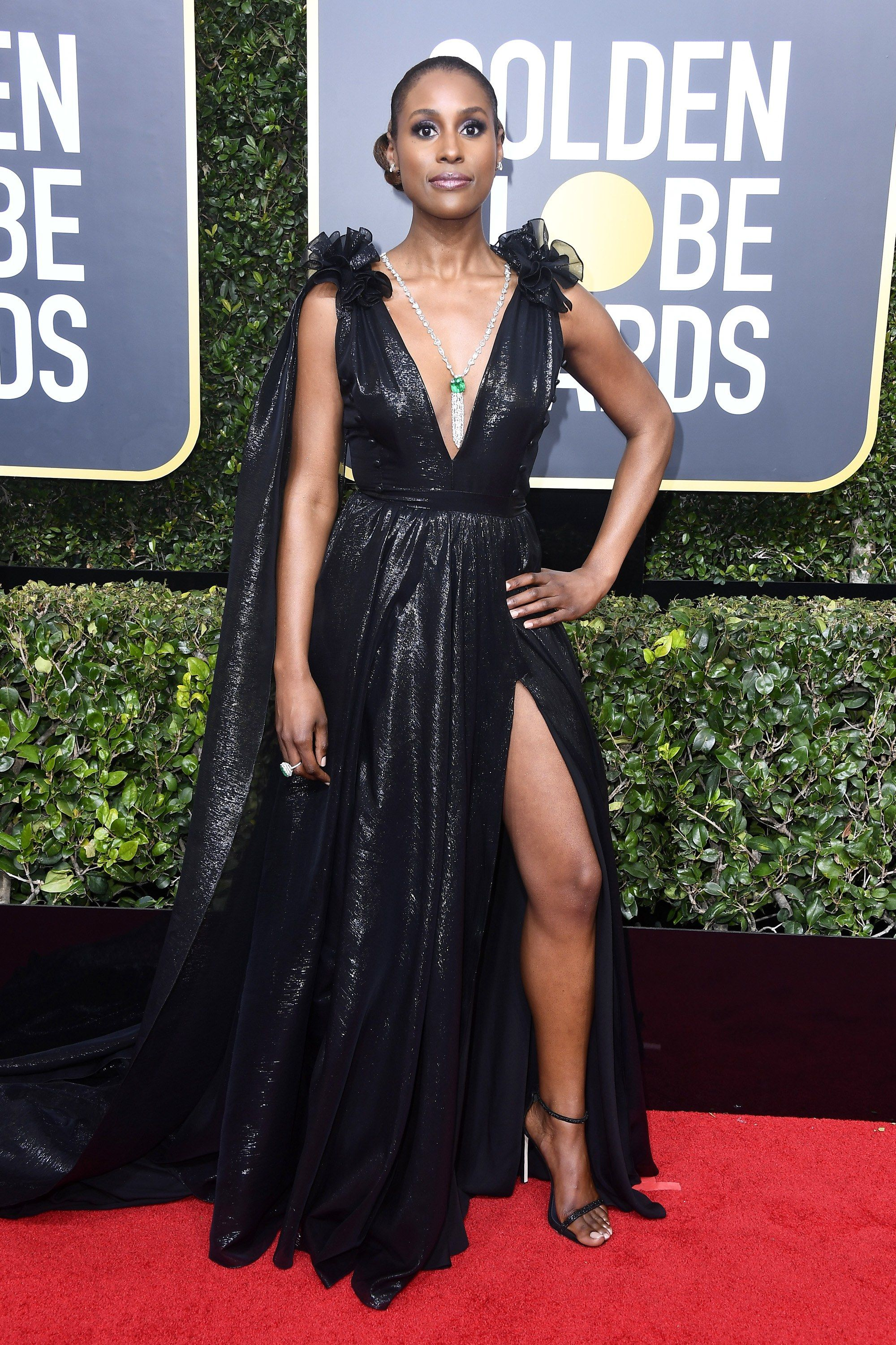 248268ff220 Issa Rae in Prabal Gurung and Stuart Weitzman shoes Issa Rae