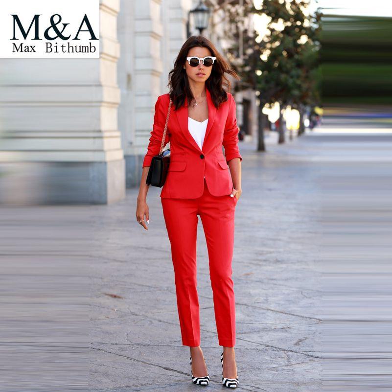 Cheap suit tracksuit, Buy Quality suit jacket size chart directly from China suit swim Suppliers:                     2016 Women 2 Pieces Sets Womens Business Suits Orange Pants Suit Formal OL Female Busine