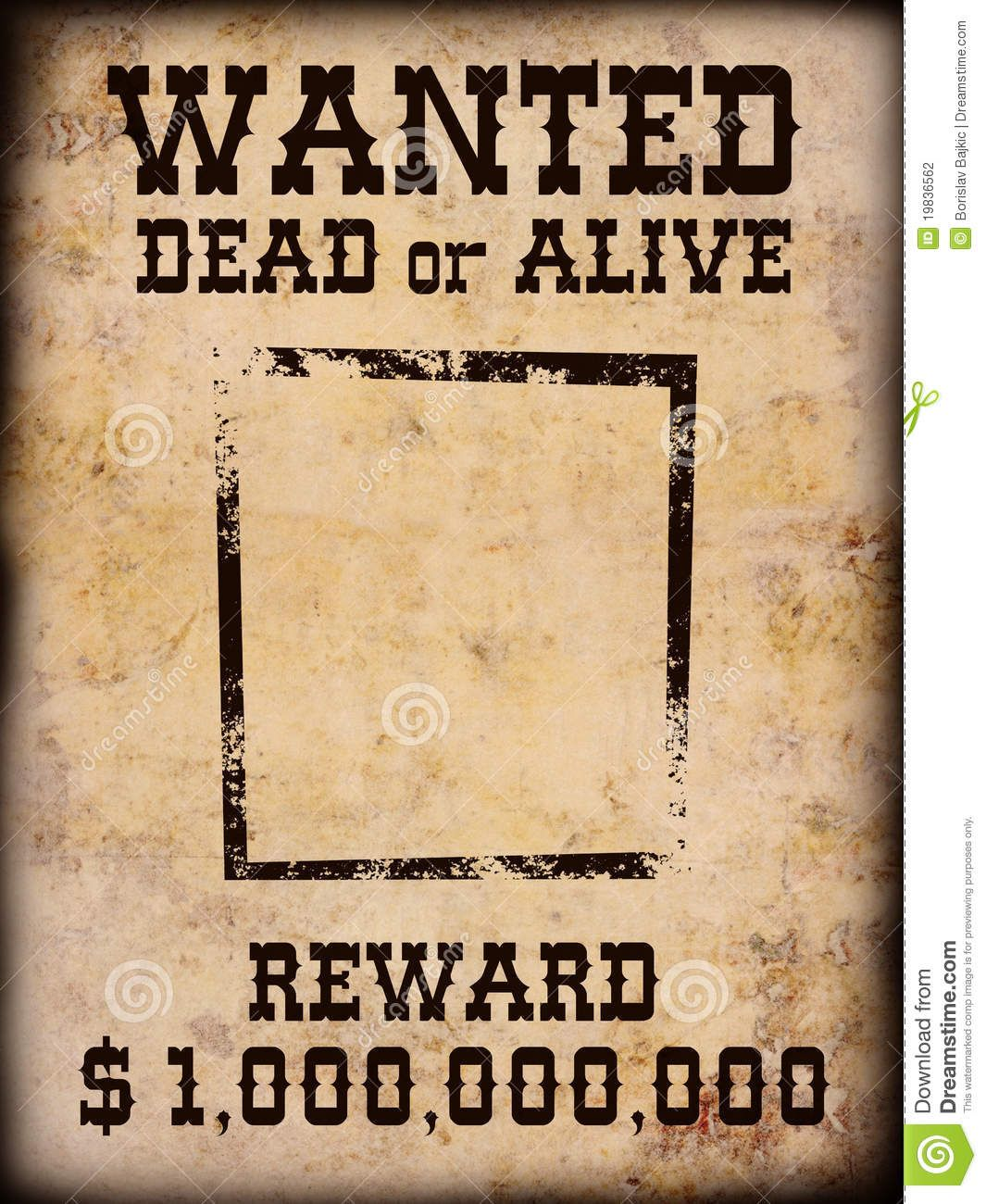Wanted Dead Or Alive Template Logo Images Pinterest Template