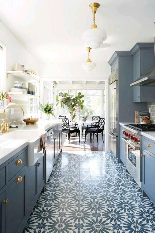 A Kitchen With A Ton Of Natural Light Is A Must Gorgeous Blue Theme