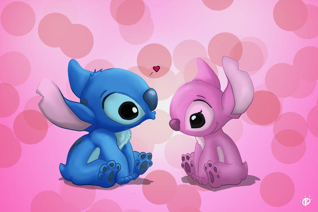 Valentine Stitch By Colam Deviantart Com On Deviantart Con Imagenes Stitch De Disney Fondo De Stich
