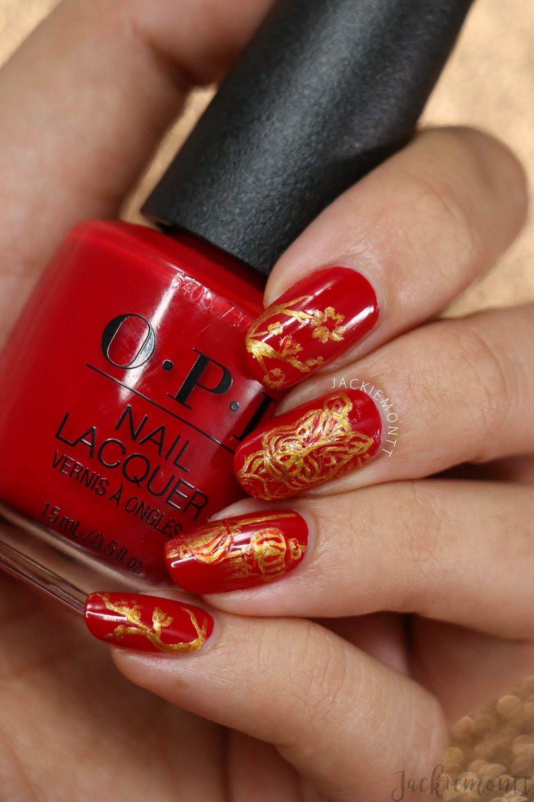 Chinese New Year Nail Art New years nail art, New year's
