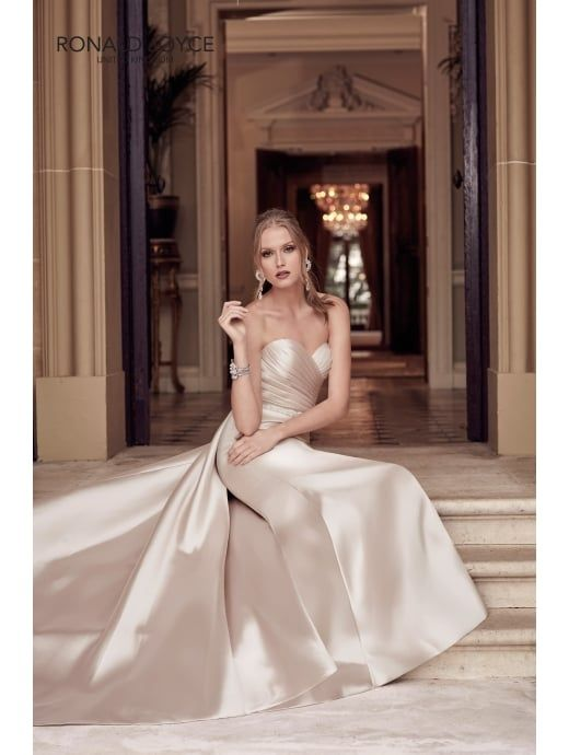 9a55be8763839 Ronald Joyce 69225 HADLEY Classic Strapless Slim Fitting Mikado Gown ...