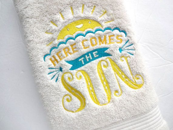 Bathroom towels bath towels embroidered bath towels by AugustAve