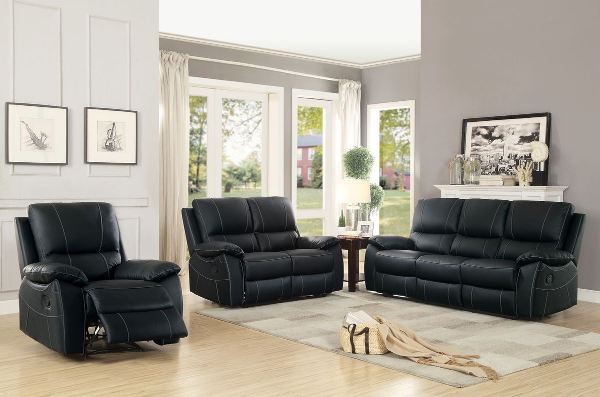 Greeley collection double reclining love seat blk hogar