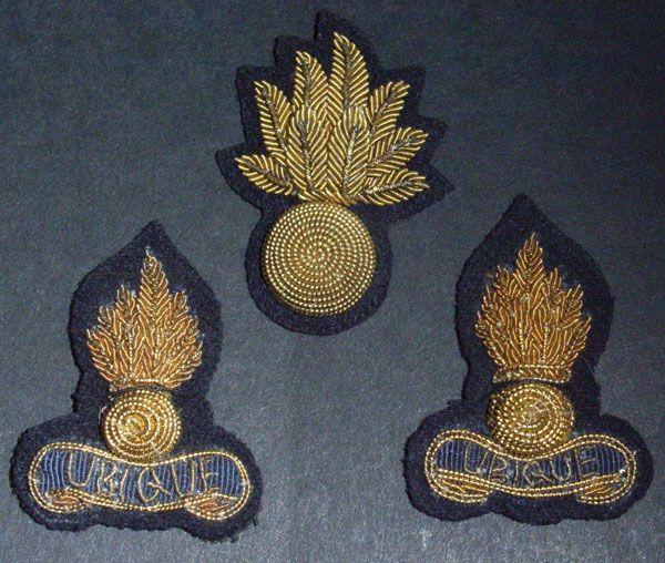 WW2 British Army Royal Artillery Bullion Wire Hat / Collar