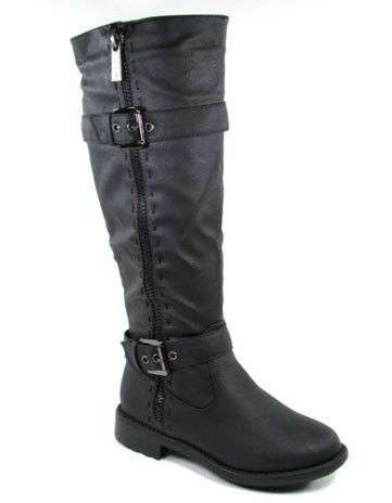 Fab-5 Knee High Buckle Riding Boot