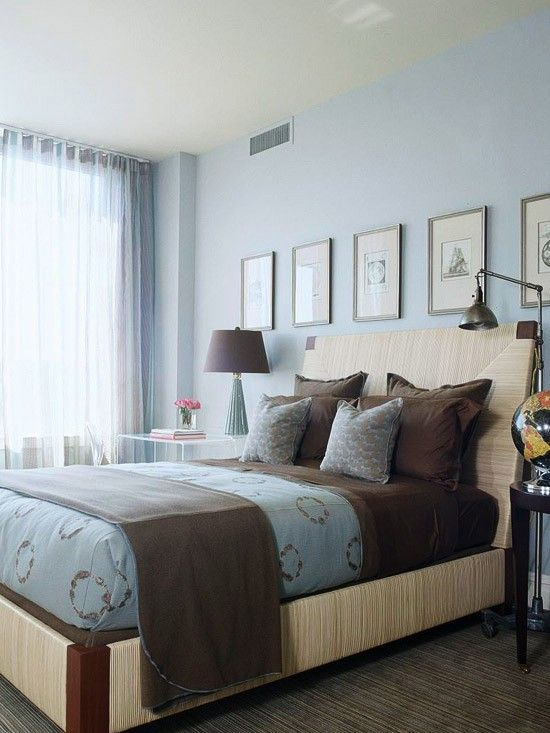 interesting blue brown master bedroom ideas | Chocolate Brown and Blue - Style Estate - | House ...