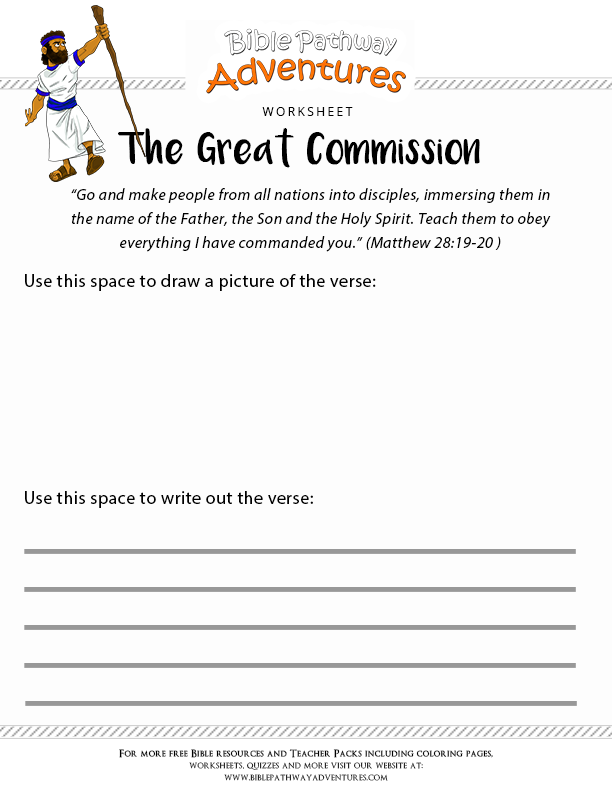 Books Of the Bible Worksheets