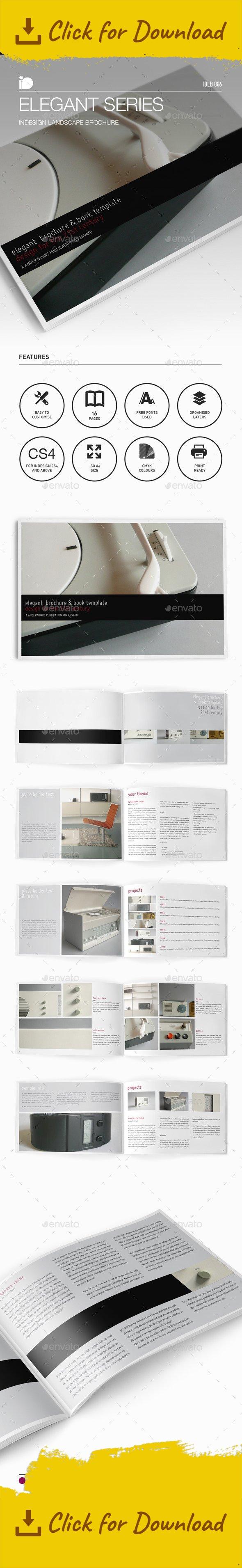 Landscape Brochure • Elegant Series | Brochures, Corporate brochure ...