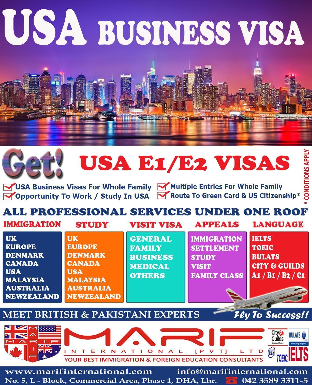 Usa Business Visa E E Visa Usa Immigration