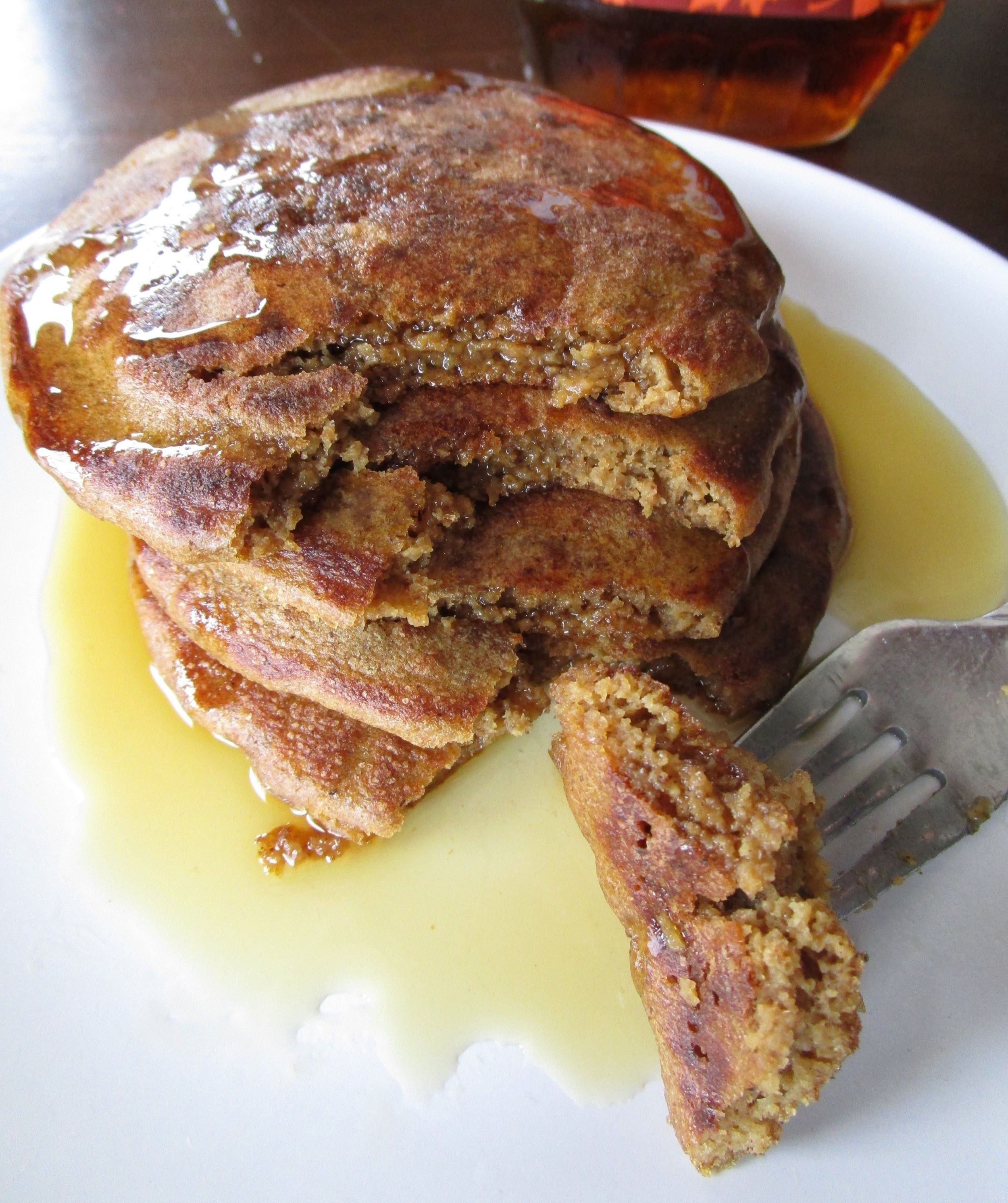Gingerbread oat pancakes gluten free and dairy free