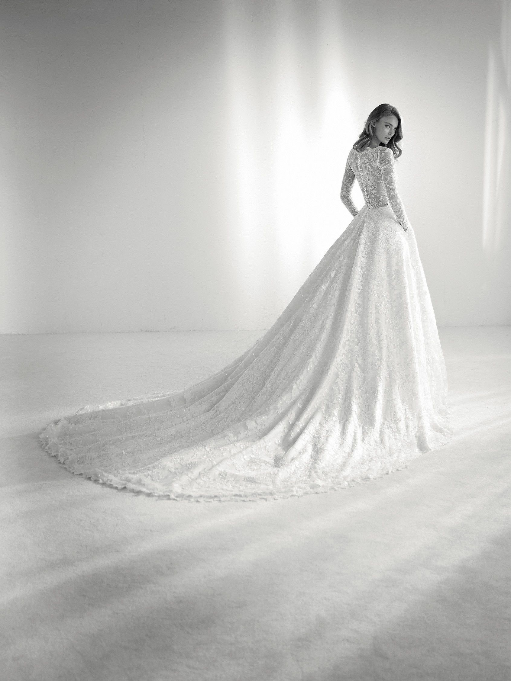 38679f332 Vestido de noiva princesa renda francesa - Coleção Pronovias 2018 ...