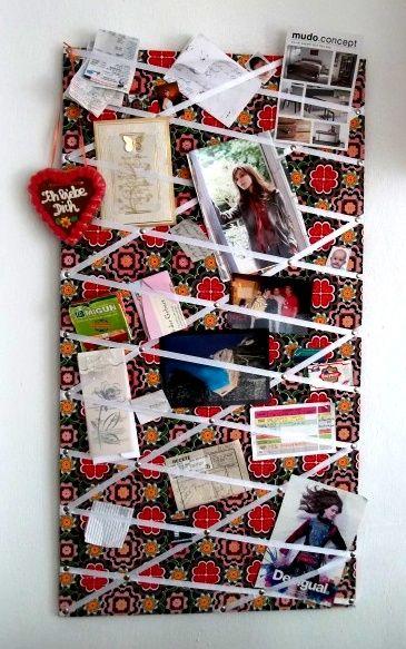 Eine pinnwand selber machen und deko ideen wohnung - Collage auf leinwand basteln ...