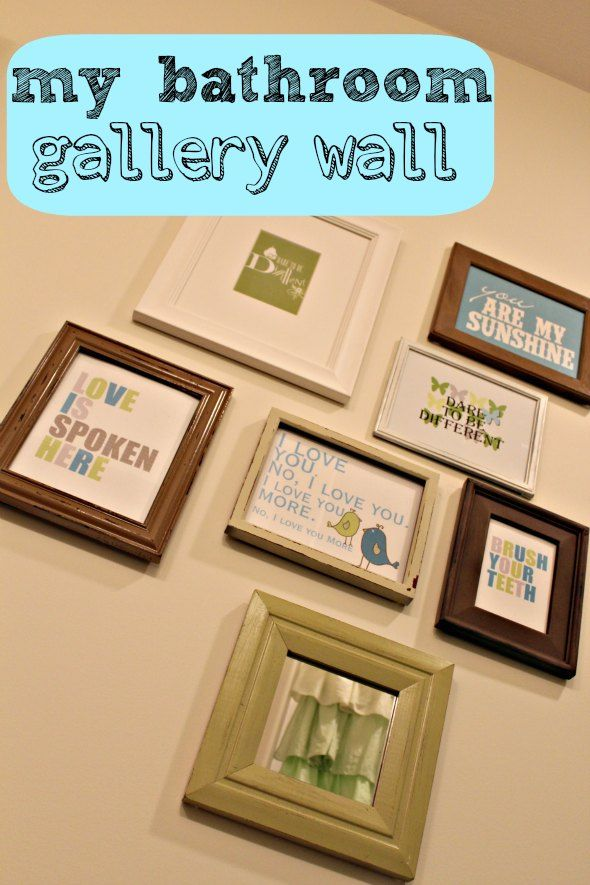 Bathroom Wall Art. Easy and Free... I need the one that says \