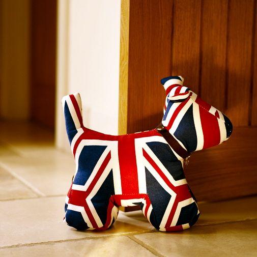 Union Jack Dog Door Stop Doorstop Union Jack Union Jack Decor