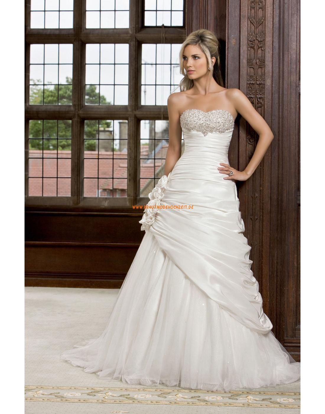 Außergewöhnliche Schöne Lange Brautkleider aus Softnetz ...