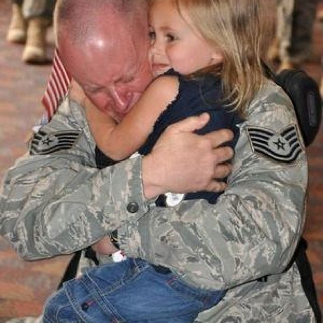 So happy to be home. God Bless our Military and there families.