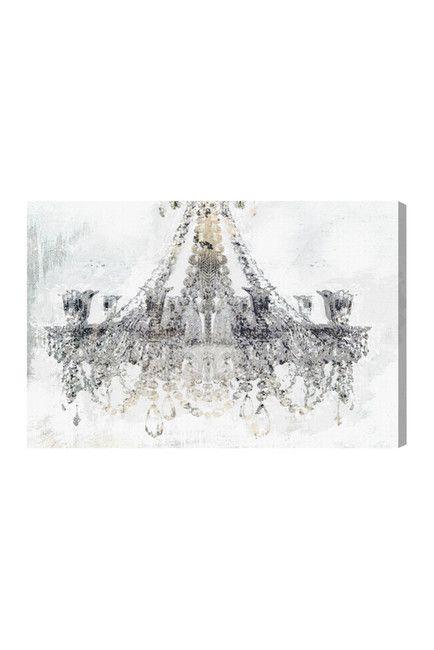 White Gold Diamonds Canvas Art