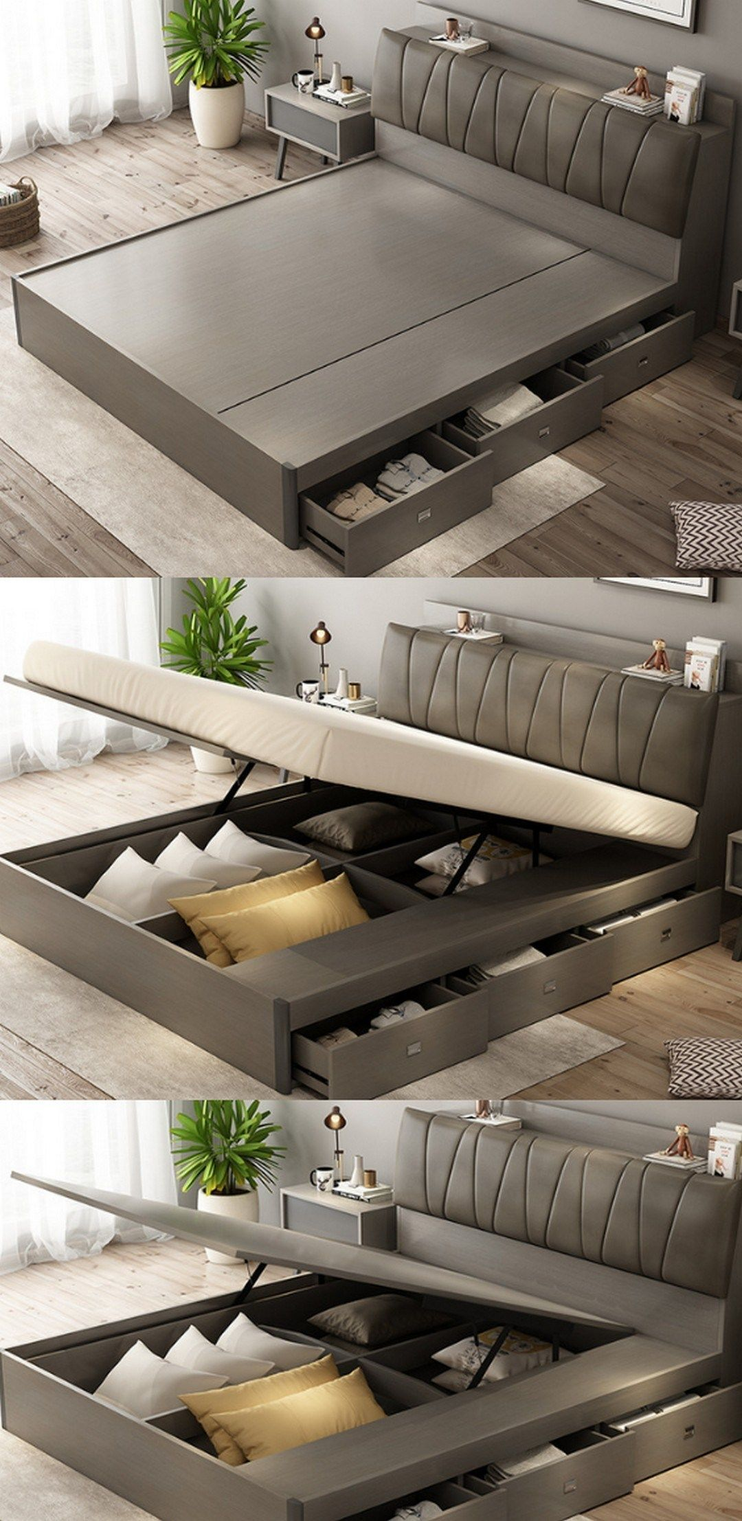 63 Awesome Double Bed Idea Farmhouse Room Bed Design Modern Wooden Bed Design Bed Furniture Design
