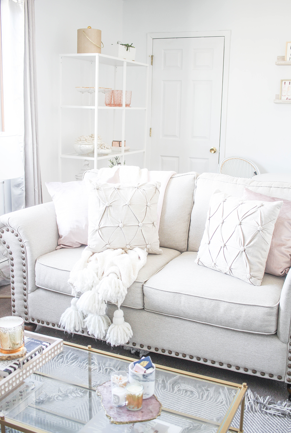 At-Home with Raymour & Flanigan | Cream living rooms, Small ...