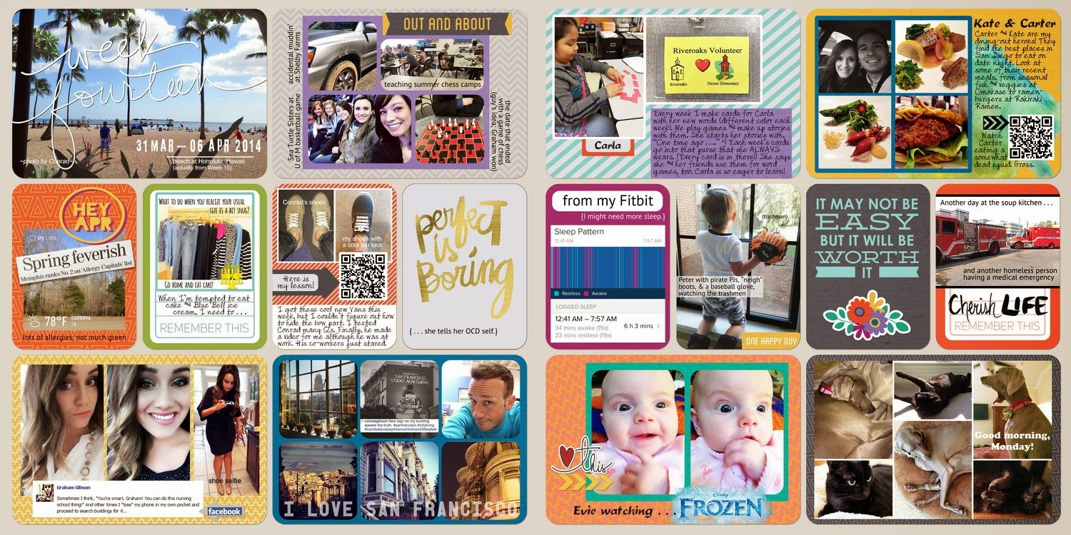 Here is my two-page spread for Week 14 of my Project Life/pocket page album:I'm currently in Destin, Florida. I've learn...