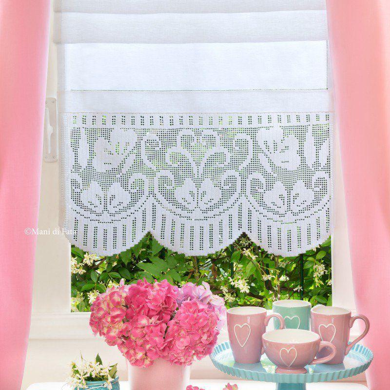 Lino schema e cotone per fare tenda con bordo ad for Sognare asciugamani