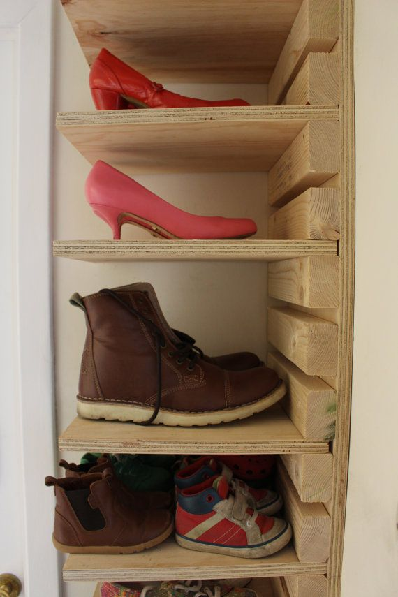 Adjustable Wooden Shoe Rack Made To Order 10 Shelf And 22 Slat Adjustable  Shoe Rack Made From Heavy Duty 18mm Plywood And Spruce. Height 180cm /  Width 30cm ...