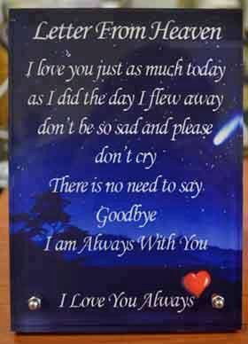 A letter from my Brother in Heaven( I wish) I love you Wayne  | I