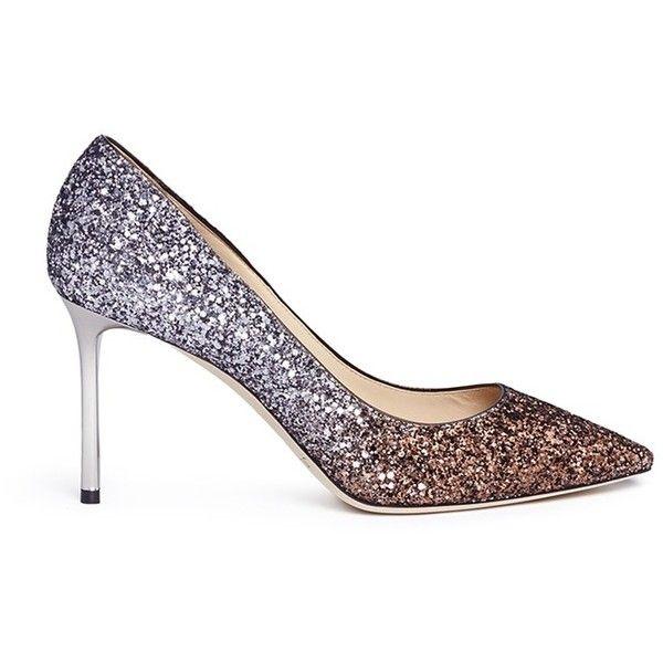 2fd26c2ccbf Jimmy Choo  Romy 85  dégradé glitter pumps (42.450 RUB) ❤ liked on ·  Special Occasion ShoesMetallic ...