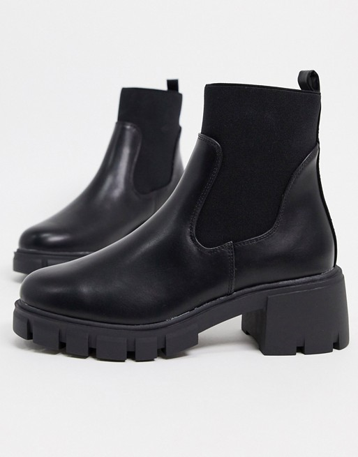 ASOS DESIGN Robbie chunky chelsea boots