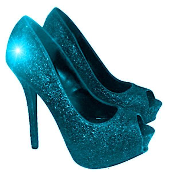 Women S Sparkly Teal Blue Glitter P Toe Pumps Heels Wedding Bride Shoes