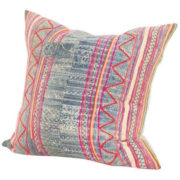 Vintage Colorful Indigo Batik Pillow (12,115 PHP) ❤ liked on Polyvore featuring home, home decor, throw pillows, pillows, colorful home decor, vintage throw pillows, vintage home accessories, linen throw pillows and multi color throw pillows