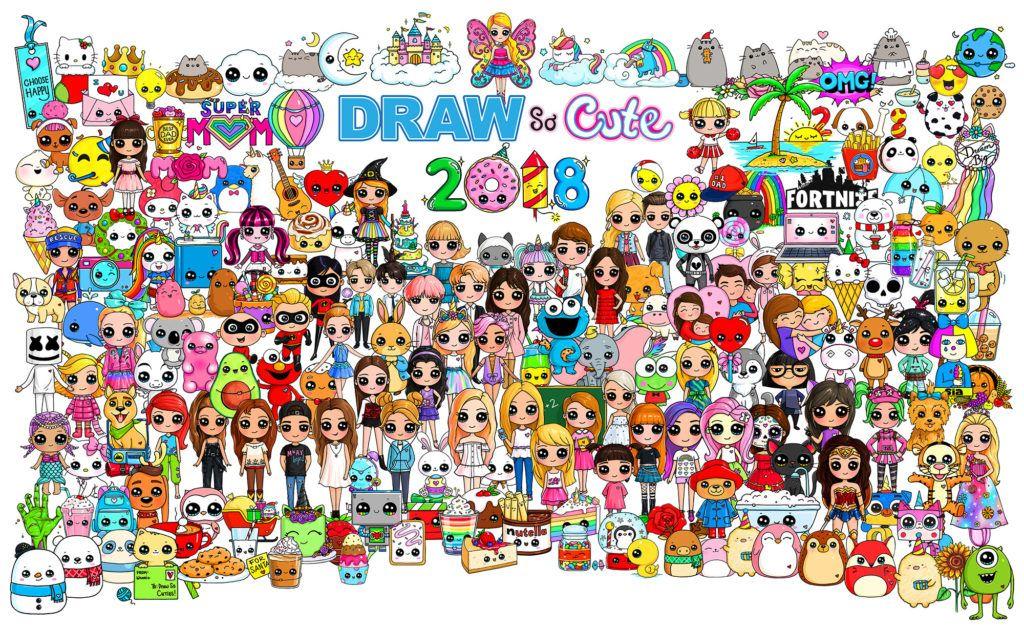 2018 Character Poster Draw So Cute Cute Drawings Poster Drawing Cute Poster