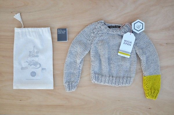 Nordic sweater gray and lemon