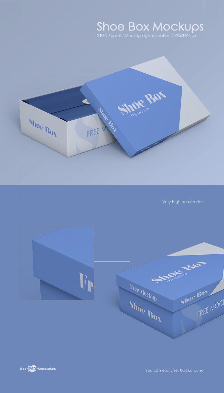 Download 2 Free Shoe Box Mockups In Psd Shoe Box Shoe Box Design Psd Template Free